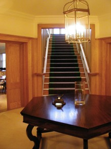 Oak Staircase and Entrance Hall