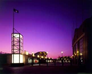 Jones Beach Stadium at Night