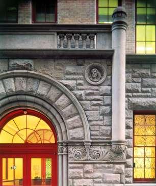 Door detail at FHSPA